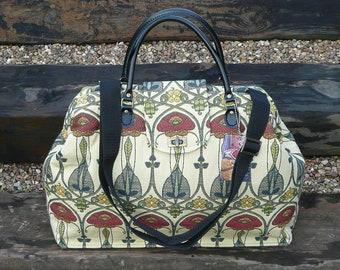 Carpet Bag, Rennie Mackintosh, Weekender Bag, Mary Poppins Bag, Hand Luggage, Travel Bag, large Overnight bag,