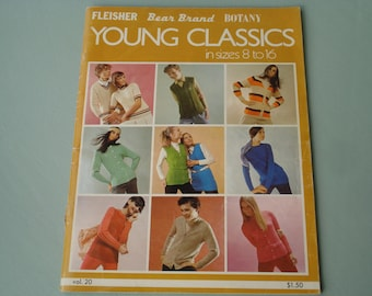Young Classics by Fleisher - Sweater Patterns in sizes 8 to 16