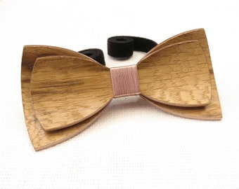 Beautiful Wood Bow Tie 0059