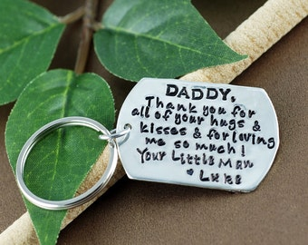Father Keychain | Personalized KeyChain for Dad | Gift for Dad | Daddy Thank You | Daddy Key Chains | Gift for Him | KeyChain for Dad
