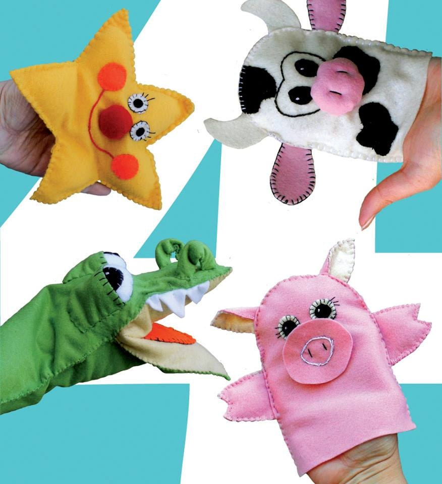 Nursery rhymes puppets little star crocodile pig cow pdf nursery rhymes puppets little star crocodile pig cow pdf sewing pattern diy hand puppet instant download jeuxipadfo Images
