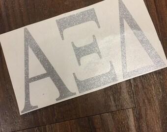 Glitter Neon Sorority Greek Sticker Vinyl Decal Big Little Tri Delta Kappa Kappa Gamma Alpha Delta Pi Alpha Xi Delta Zeta Theta Tri Sigma