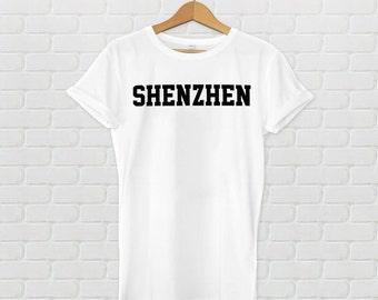 Shenzhen Varsity Style T-Shirt - White