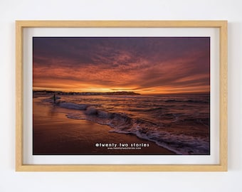 Bondi Beach Amazing Sunrise Photography Print
