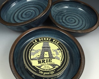 Brie Baker - Brie Dish - Recipes Included - Baking Dish - Hummus Dish - Appetizer Dish, Textured Rim - Baking Dish