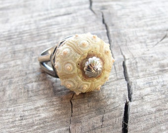 Sea Urchin Ring - Sterling Silver Sputnik Sultan Ring