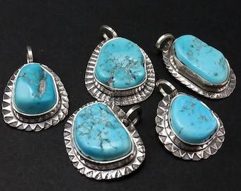 Arizona Turquoise Old Stock Nugget Style Pendants