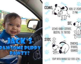 Pawsome Puppy Pawty Invite!
