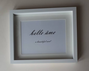 Framed wall art quote french quote