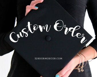 Custom Graduation Cap | Graduation Cap | Graduation Cap Custom | Graduation Caps | Custom | Customized | Handmade Graduation Cap | College