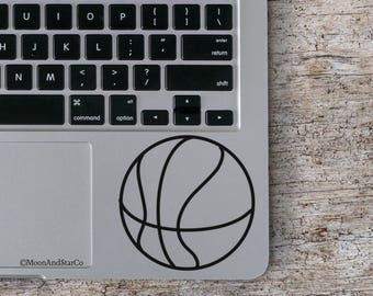 Basketball                  , Laptop Stickers, Laptop Decal, Macbook Decal, Car Decal, Vinyl Decal