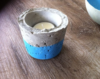 Modern concrete candle holder