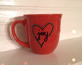 Joy and Love 14 oz Coffee Mug, Coffee Cup