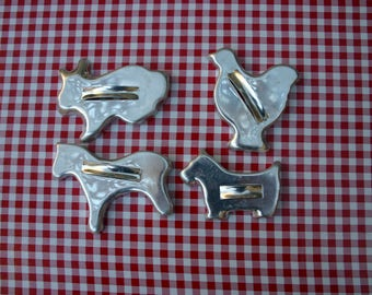 Vintage Strapped Back  Tin Cookie Cutters