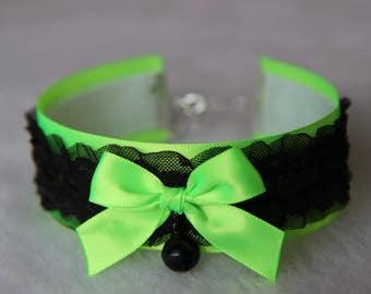Green and Black Choker