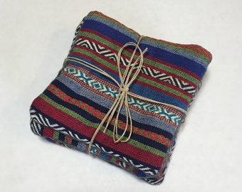Bright Aztec Design Coasters - Set of 4