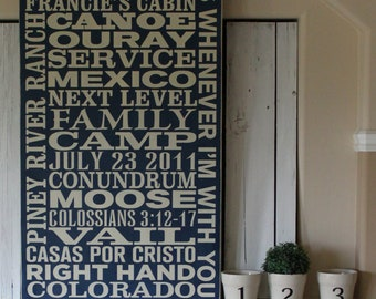 HUGE Customized/Personalized Subway Art Sign