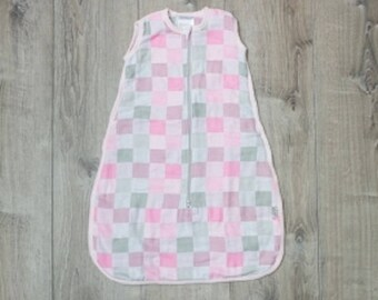 Luxe Collection Lulujo Baby  Pink 100% Cotton Muslin Sleep Sack