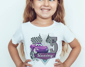 Cars Holley Shiftwell  personalised birthday Kids  T-Shirt, Childrens Toddlers T Shirt Top.