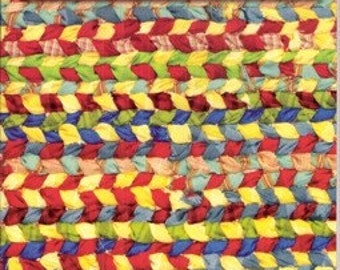 Rag rugs how-to, weave on a frame instruction booklet