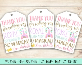 Princess Birthday Tag, Princess Party Tag, Princess Party Favor Tag, Princess Birthday Favor Tag, Princess Tag, Princess Thank You Tag