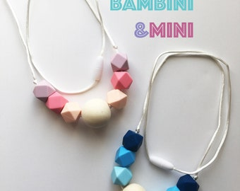 Wooden/Silicone Teething Necklace | Breastfeeding sensory | Bite Beads | Chew Jewelry | Necklace | Jewelry | Mommy Jewelry | Mama Necklace