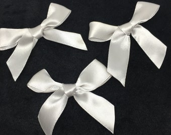 100pcs Handmade 15mm Satin Ribbon Bows Decorative Satin Bow Butterfly Ties For Doll Hair Accessories
