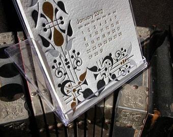 2012 Ilee letterpress and silkscreen calendar