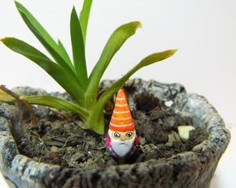 Miniature garden gnome unique piece
