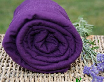 BAMBOO Stretch Jersey Potent Purple, Certified Organic