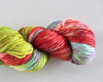 Aloha.  Hand painted - Merino singles yarn