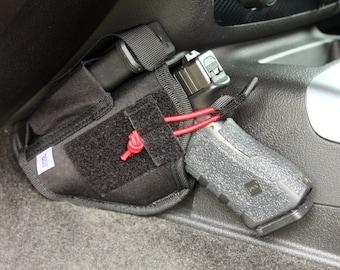 Vehicle Holster Car Truck Handgun Pistol Mount Universal Ambidextrous Conceal Carry