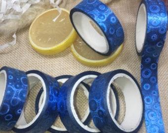 Masking tape, masking tape, Blue shiny bubble pattern, 5 M x 15 mm