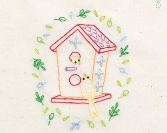 Tweet House INSTANT DOWNLOAD PDF embroidery pattern