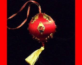 Birthstone Ornament: July (Ruby)