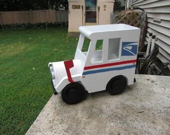 Fait à la main personnalisé Mail fonctionnelle en bois camion boîte aux lettres