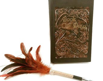 Brown Metal Journal, rust, Distressed Metal Journal, built in Bookmark, Lined pages, Diary Notebook, gift for writers, writing journal, ooak