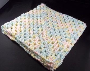 Doll Blanket/Blankie/Lap Blanket/Lapaghan - Multi Pastel - FREE SHIPPING