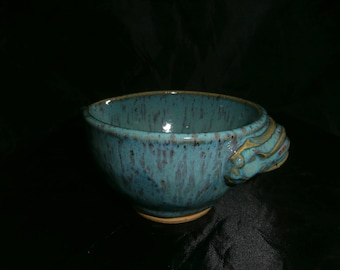 Beautiful turquoise blue 1 cup batter bowl .
