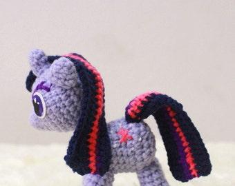 Amigurumi Crochet Dolls : My Little Pony Twilight Sparkle Made to Order