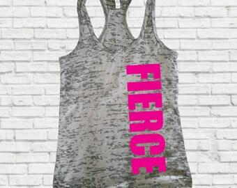 Fierce tank top, Motivational workout tank, Fierce Women's Fitness Tank Top,Inspirational Workout Tank