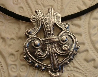 Victorian Fine Silver Metal Clay Necklace