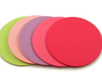 Three Inch Paper Die Cut Circles  3 inch  Circles in Butterfly Wings Set of 25
