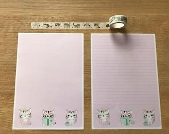 Tabby Cat Snail Mail Pen Pal Writing Paper