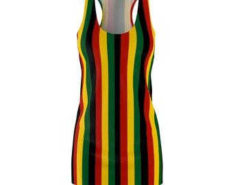 RastaReggae Stripped Racerback Dress Rlw1831