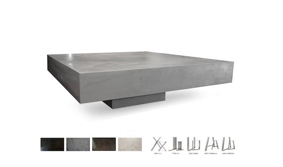 Low Light Ultra Polished Concrete Pedestal Table