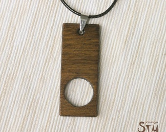 Wooden Geometric Necklace, Wooden Jewelry, wooden Pendant, Gift for her, Laser cut Jewelry