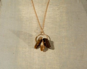 Tiger Eye Gold Necklace
