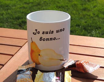 Mug I'm a sucker, coffee mug, Teacup mug, pear, fruit