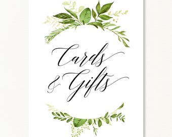 Cards And Gifts, Wedding Sign, Gifts And Cards, Wedding Cards Sign,  Reception Sign, Floral Wedding, Wedding Decor, Table Sign For Cards